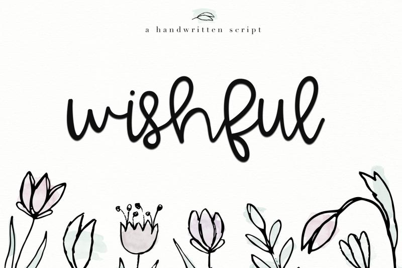 wishful-a-bold-handwritten-font
