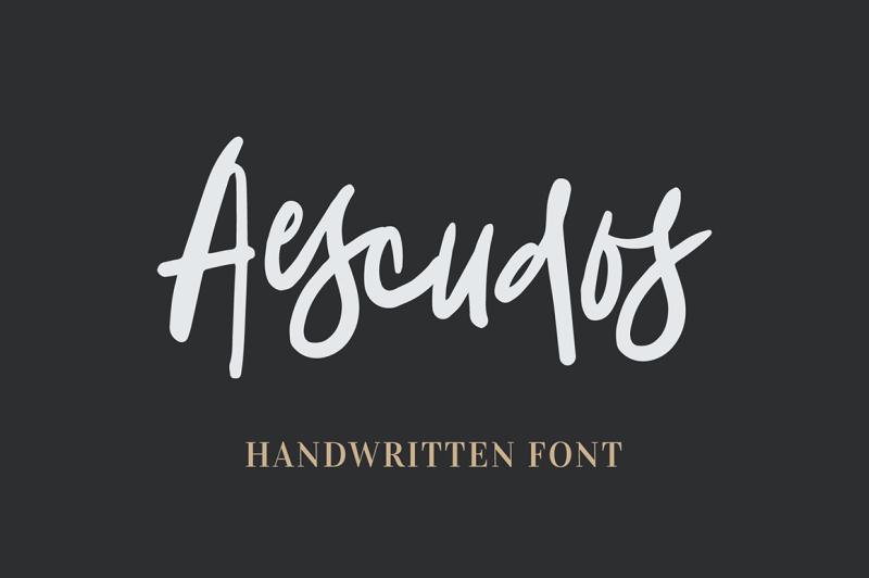 aescudos-handwritten-font