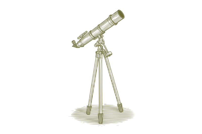 woodcut-telescope