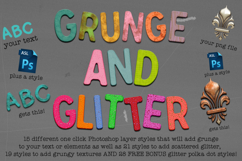 grunge-and-glitter-layer-styles