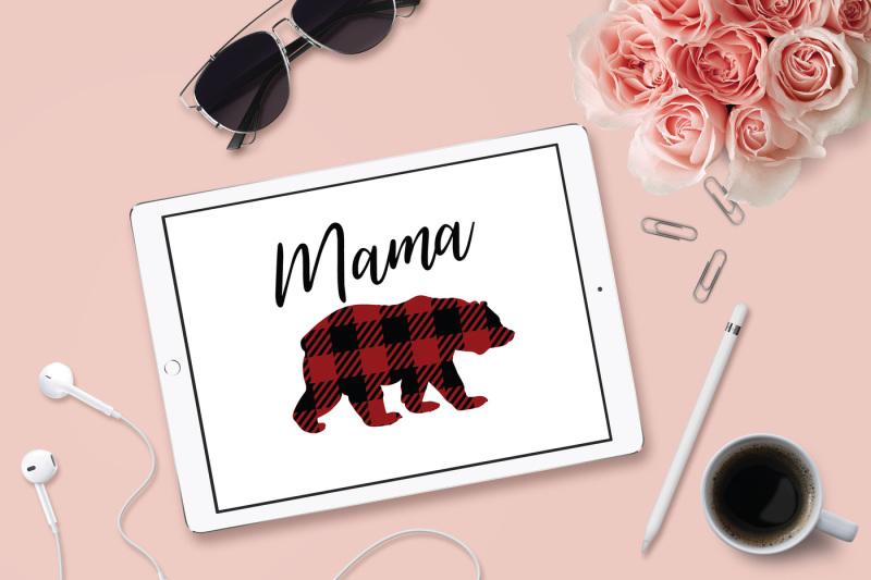 mama-bear-svg-plaid-bear-dxf-file-cuttable-file