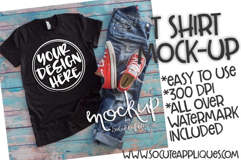 Free Black t-shirt flat lay mock up 6513 (PSD Mockups)