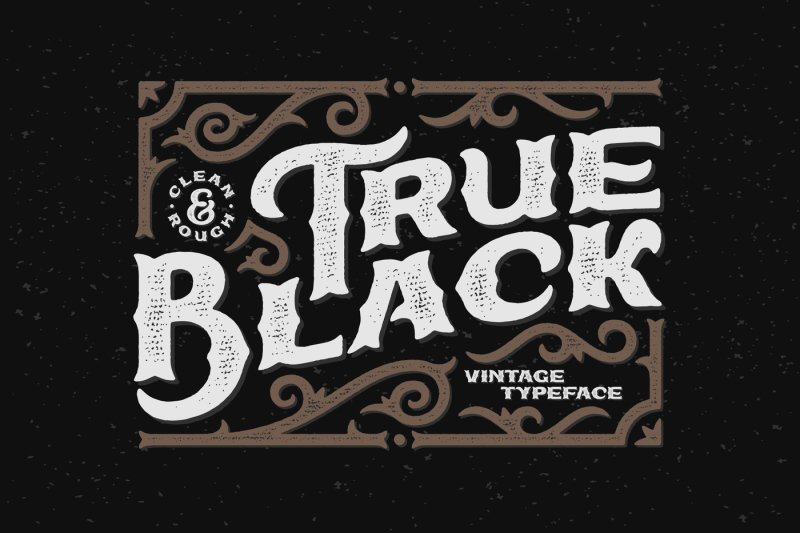 true-black-typeface