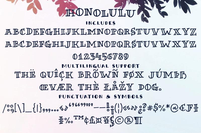 honolulu-a-handmade-font