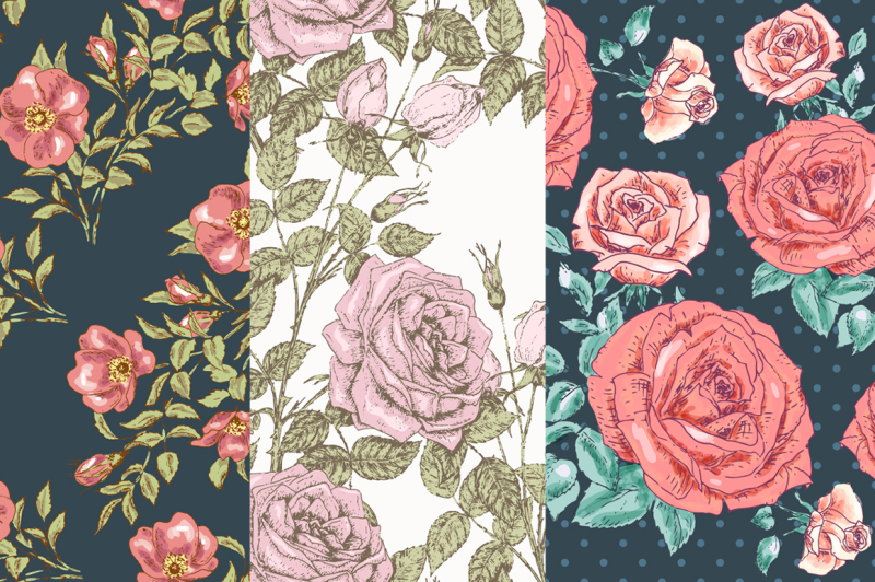 hand-drawn-floral-vector-patterns