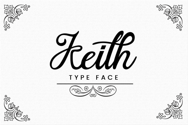 keith-typeface