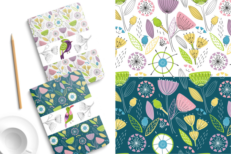 birds-and-flowers-20-patterns