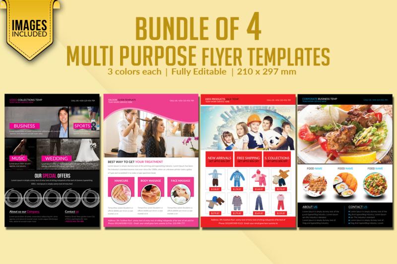 bundle-of-4-multi-purpose-flyer-templates