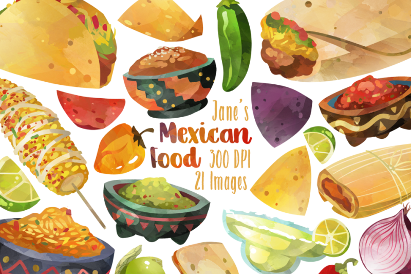 watercolor-mexican-food-clipart