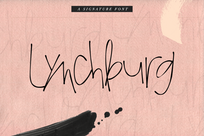 lynchburg-handwritten-signature-font