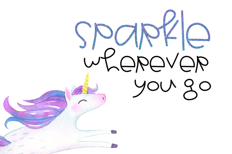 unicorn-wishes-cute-and-quirky-font