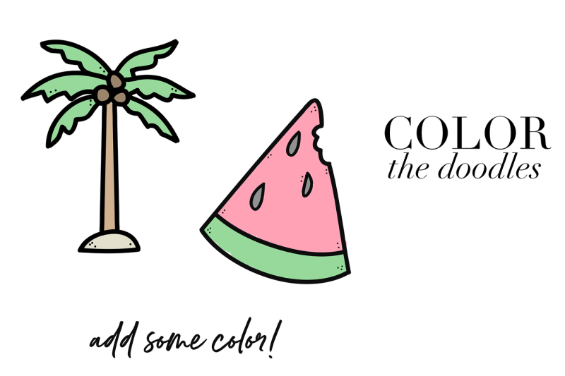 tropical-doodles-a-summer-font