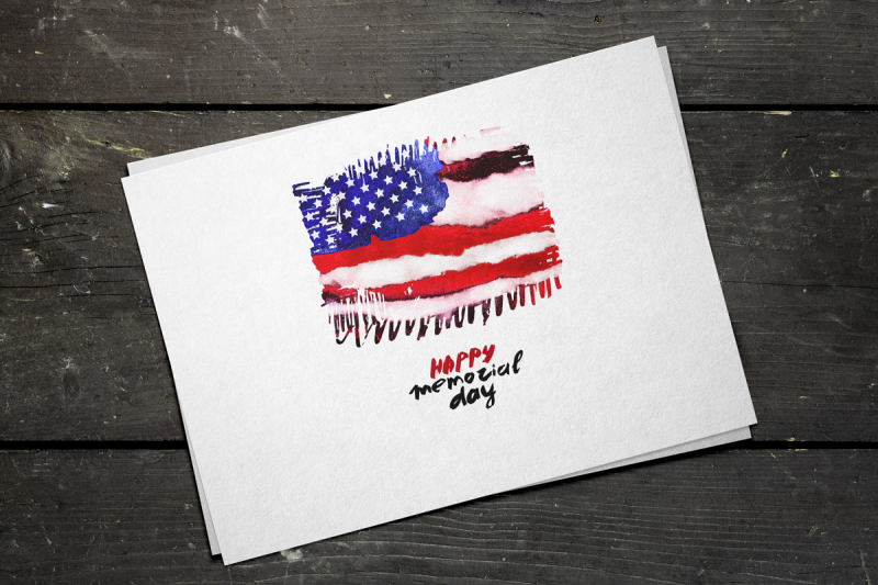 old-america-watercolor-flag-usa-grunge-elements
