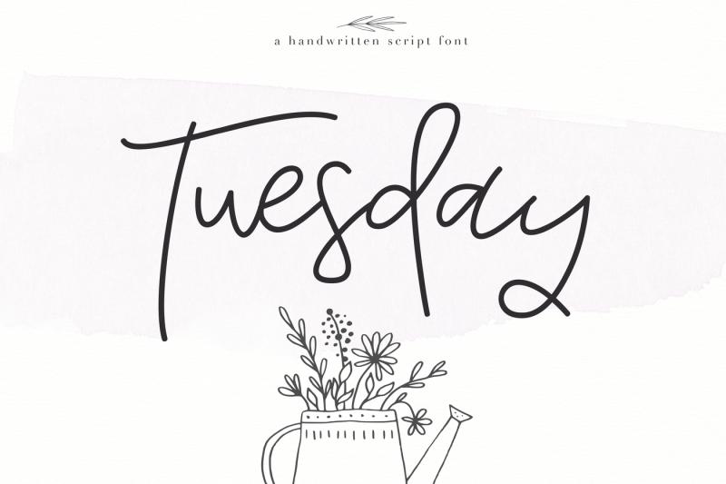 tuesday-handwritten-script-font