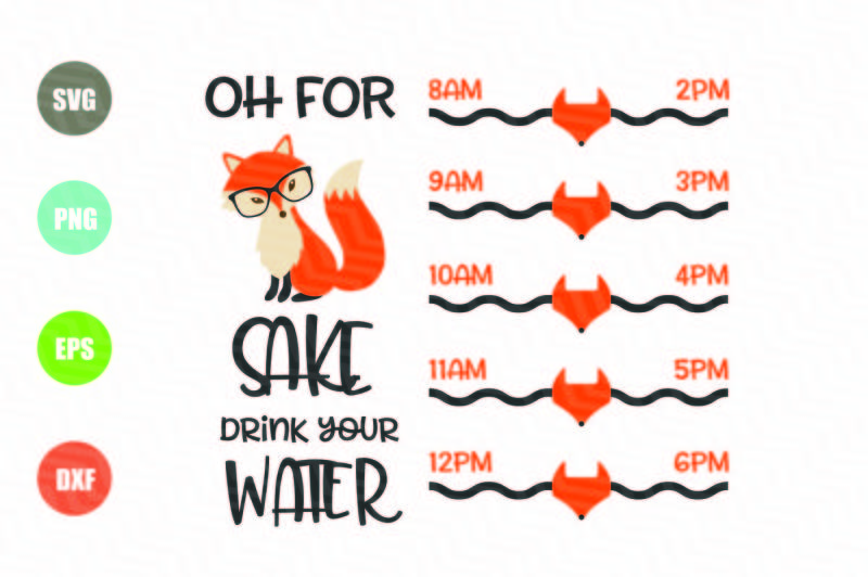 oh-for-fox-sake-svg-water-tracker