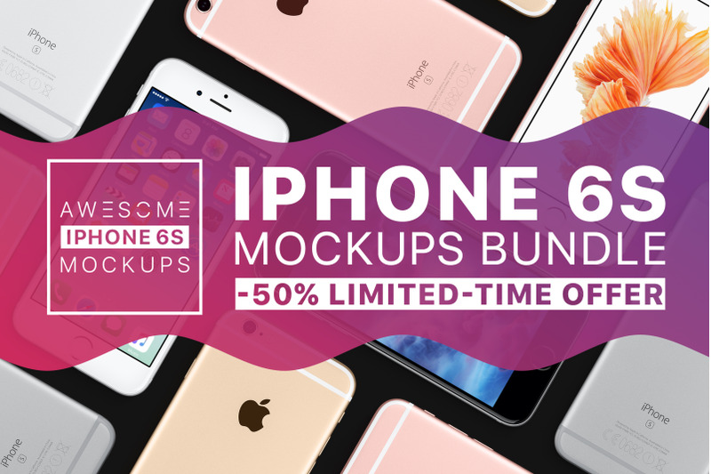 Free Awesome iPhone 6S Mockups (PSD Mockups)