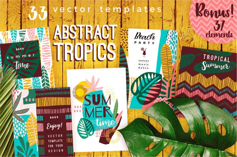 abstract-tropics-33-vector-templates