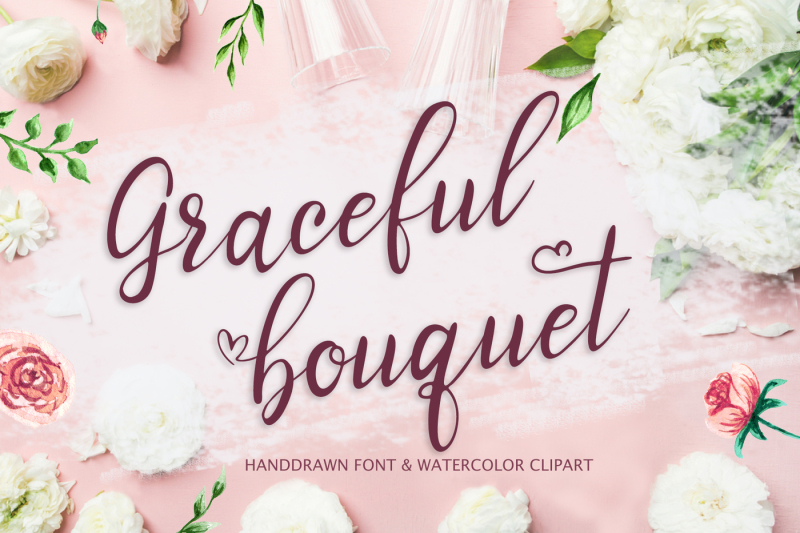 graceful-bouquet-lovely-font-and-clipart