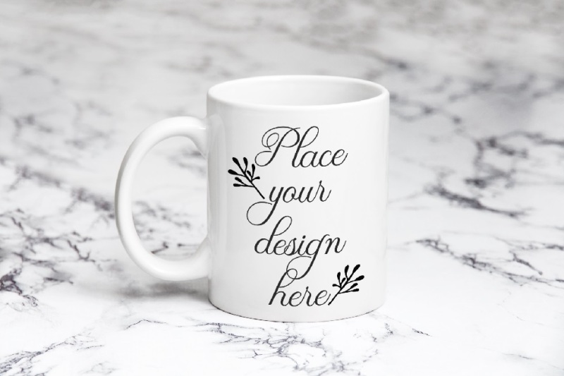 Free Coffee mug mockup white cup mock up psd smart template mockups (PSD Mockups)