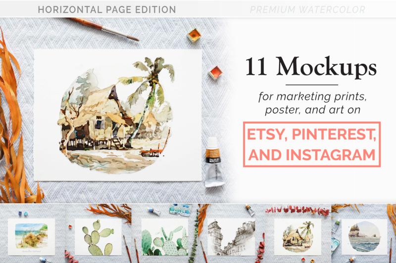Free Print Mockups for Etsy & Instagram (PSD Mockups)