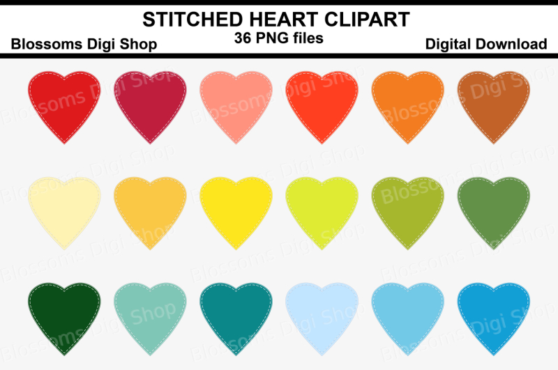stitched-heart-clipart-36-multi-colours-png-files