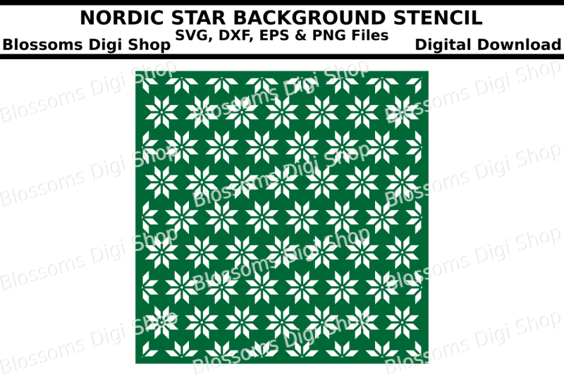 nordic-star-background-stencil-svg-dxf-eps-and-png-files