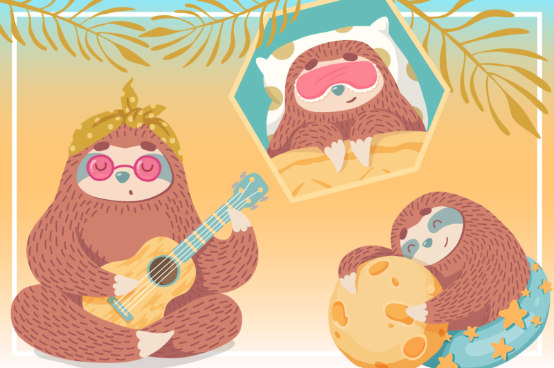 sweet-illustrations-with-sloths
