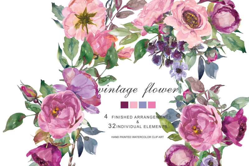 watercolor-pink-and-purple-roses-and-peonies-clip-art