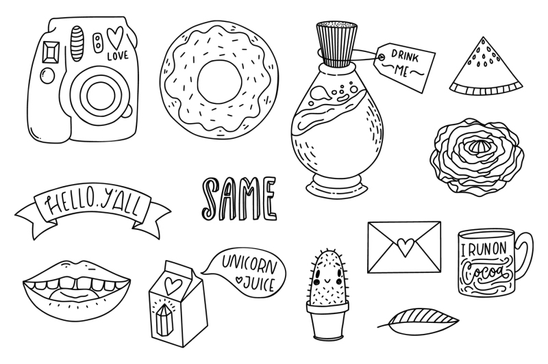 pack-of-cute-modern-stickers