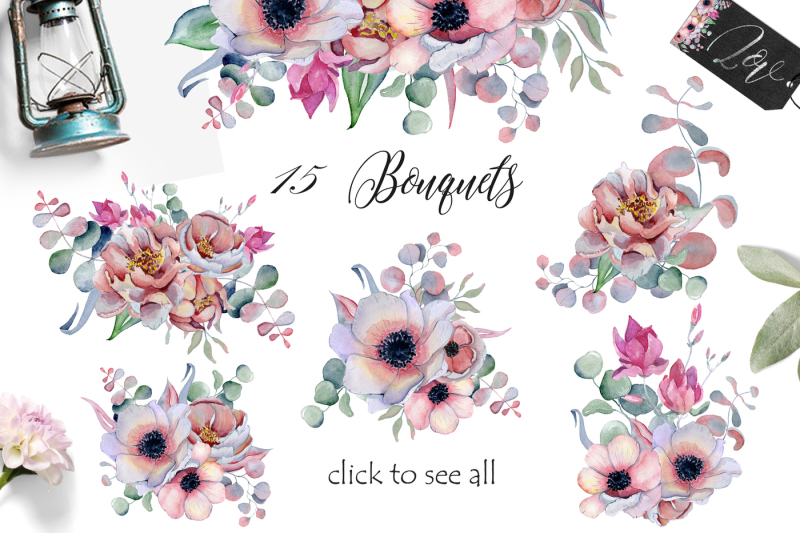 watercolor-floral-bouquets-with-peonies-amp-anemonies-flowers