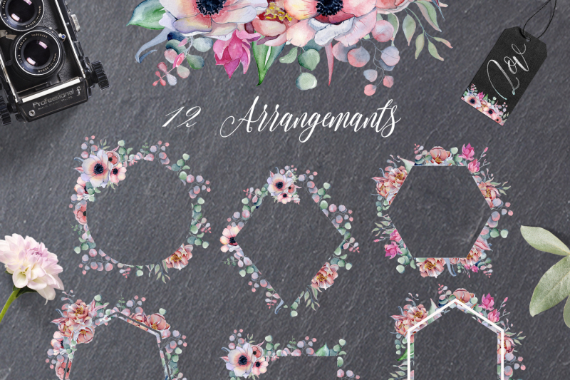 arrangements-amp-frames-with-peonies-amp-anemonies-flowers