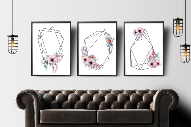 geometric-floral-frames-with-peonies-and-anemonies