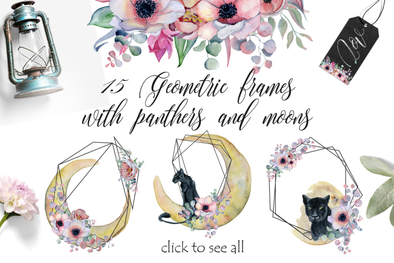 geometric-frames-with-panthers-and-moons