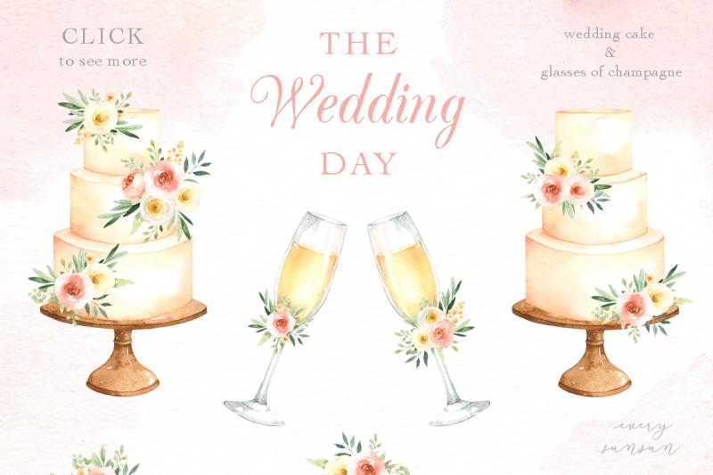 the-wedding-day-watercolor-clip-art