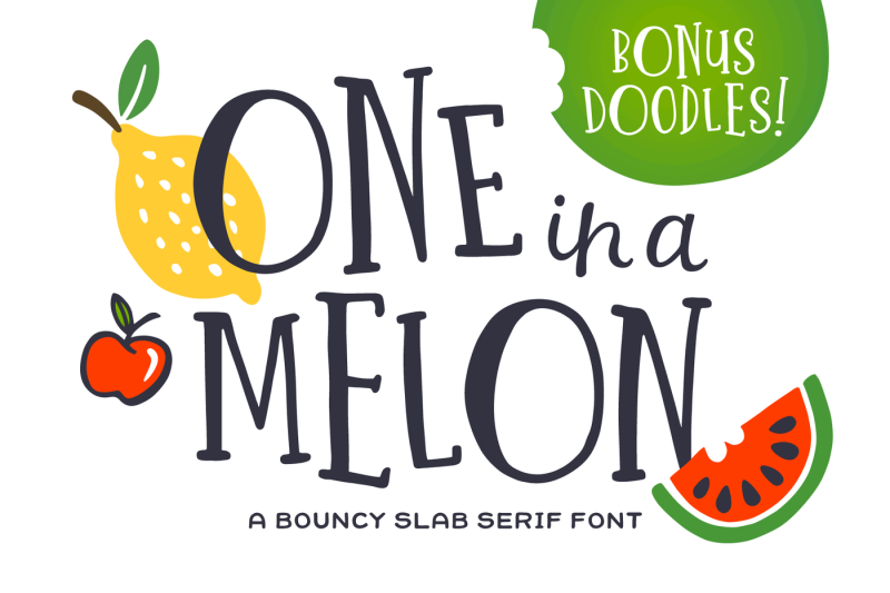 one-in-a-melon-font-doodles