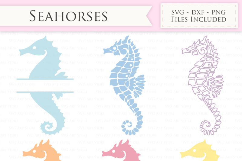 Seahorse Svg Files Nautical Sea Horse Monogram By Svgartstore
