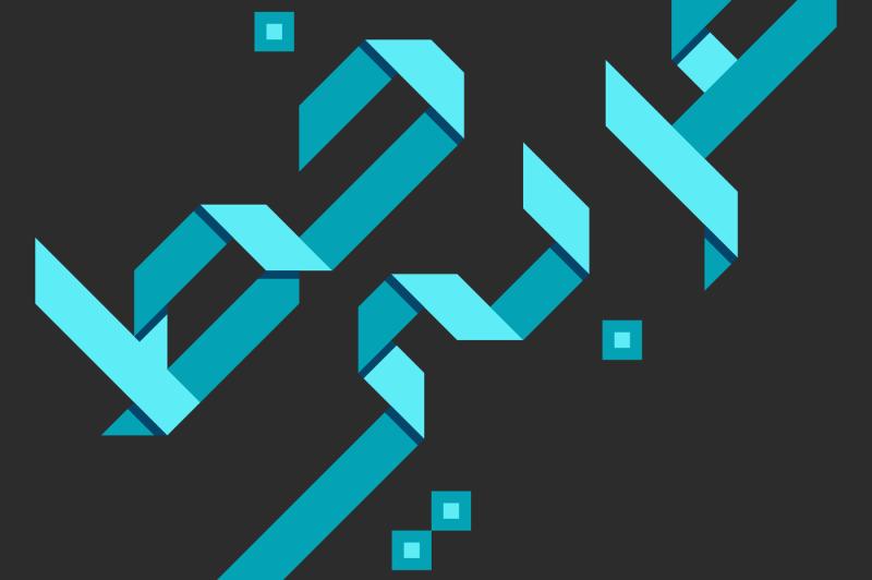 origami-colored-arabic-font