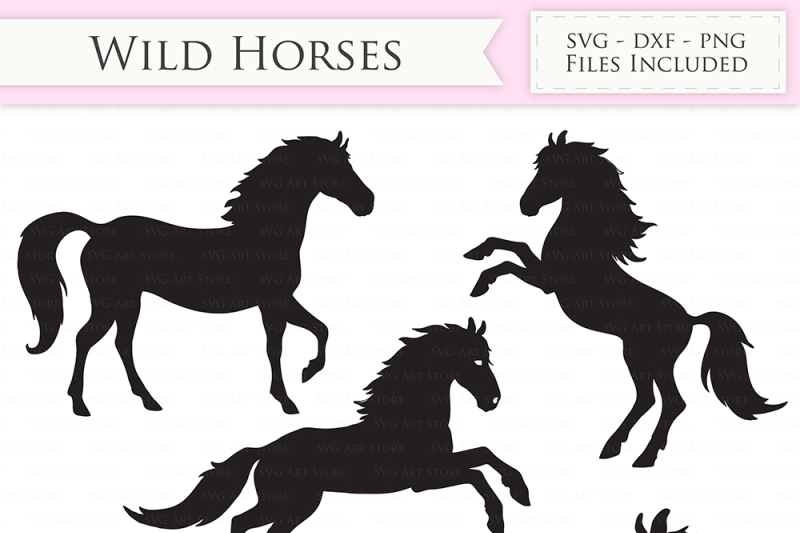 Wild Horses Svg Files Jumping Horse Horse Monogram Cut Files