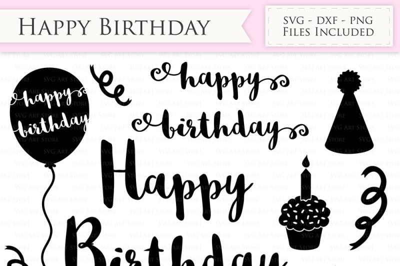 Happy Birthday Svg Files Birthday Cutting Files By Svgartstore