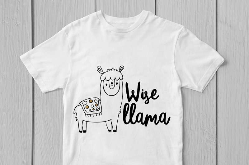 wise-llama-svg-cut-file