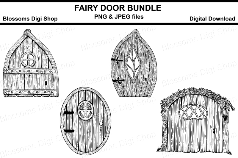 fairy-door-digital-stamps