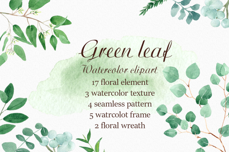 green-leaf-watercolor-clipart