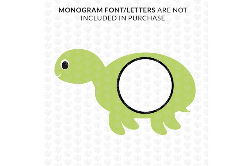 cute-tortoise-monogram-frame-svg-cut-file