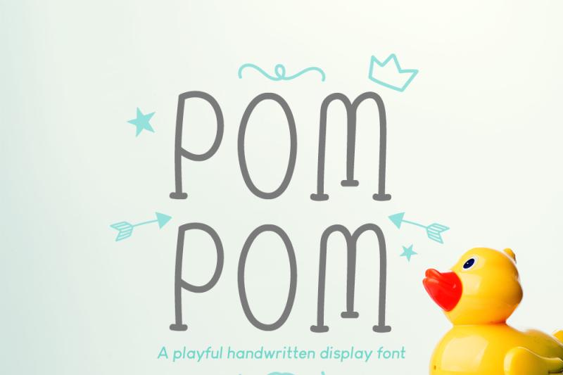 pom-pom-cute-handwritten-font