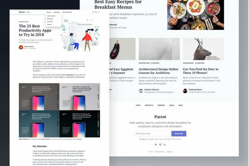 parrot-bootstrap-blog-template