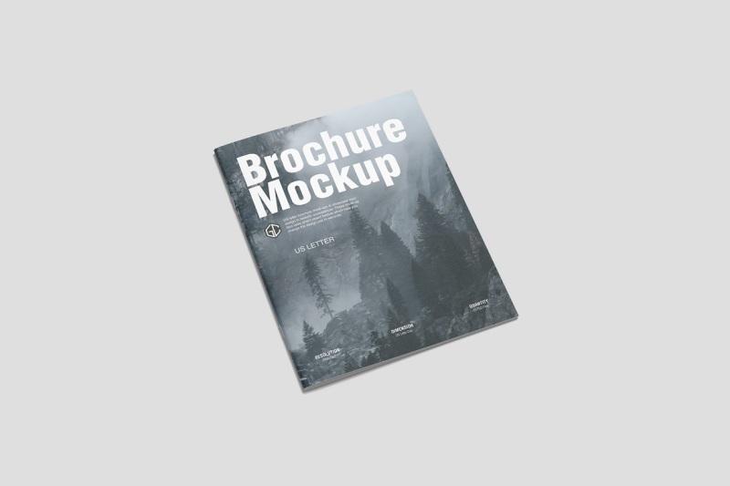 Free US Letter Brochure Mockup (PSD Mockups)