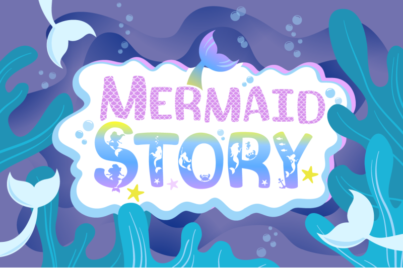 the-mermaid-story-font-duo-extras