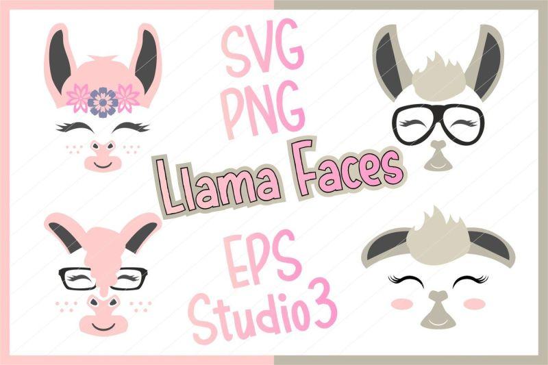 llama-svg-llama-cut-file-llama-clipart-llama-face