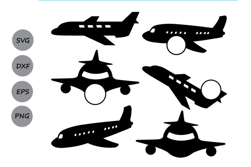 airplane-svg-monogram-frame-cut-files-plane-silhouette