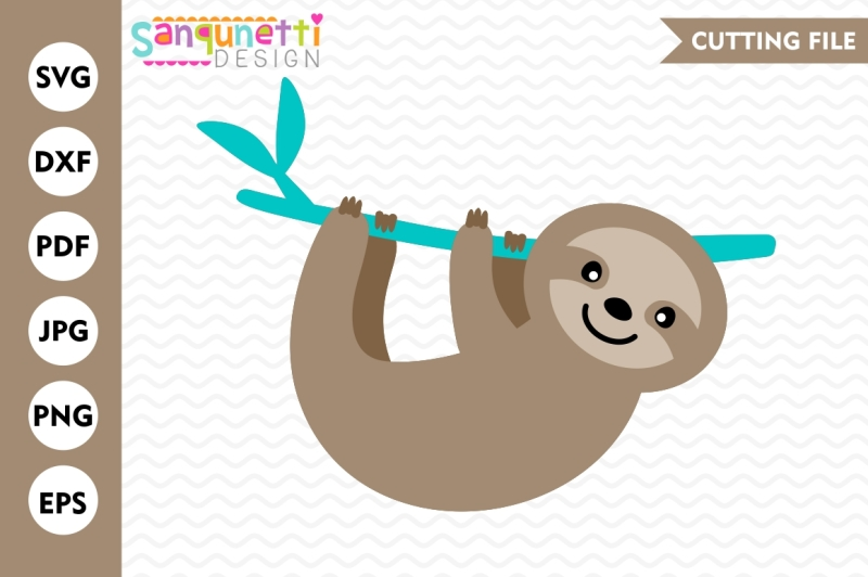 sloth-svg-sloth-cutting-file-cut-file-dxf-eps-silhouette-cricut